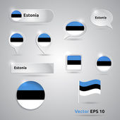 Estonia icon set of flags — Stock Vector