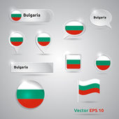 Bulgaria icon set of flags — Stock Vector