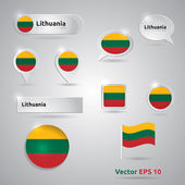 Lithuania icon set of flags — Stock Vector