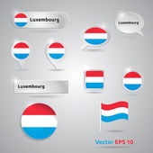 Luxembourg icon set of flags — Stock Vector