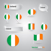Ireland icon set of flags — Stock Vector