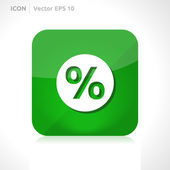 Sale percent icon — Vector de stock