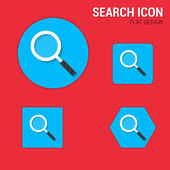 Search icon flat design — Stock Vector