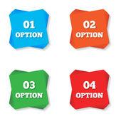 Modelo de design colorido abstrato — Vetor de Stock