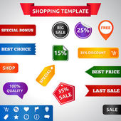 Sale template — Stock Vector