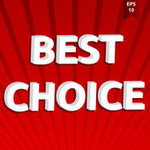 Best choice template — Stock Vector