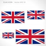 United Kingdom flag template — Stock Vector #49771843