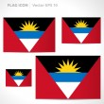 Antigua and Barbuda flag template — Stock Vector #49772015