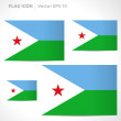Постер, плакат: Djibouti flag template
