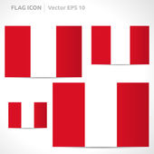 Peru flag template — Stock Vector