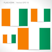 Ivory Coast flag template — Stock Vector