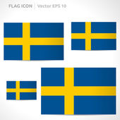 Sweden flag template — Stock Vector