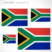 South Africa flag template — Stock Vector