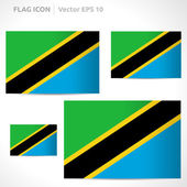 Tanzania flag template — Stock Vector