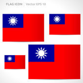 Taiwan flag template — Stock Vector