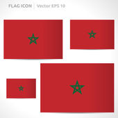 Morocco flag template — Stock Vector