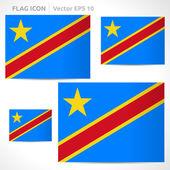 Democratic Republic of the Congo flag template — Stock Vector