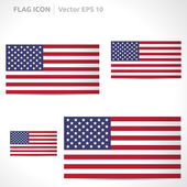 United states flag template — Stock Vector