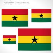 Ghana flag template — Stock Vector