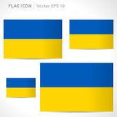 Ukraine flag template — Stock Vector