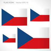 Czech Republic flag template — Stock Vector