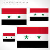 Syria flag template — Stock Vector