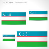Uzbekistan flag template — Stock Vector