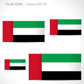 United Arab Emirates flag template — Stock Vector