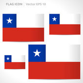 Chile flag template — Stock Vector