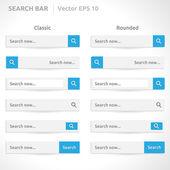 Search bar template — Stock Vector