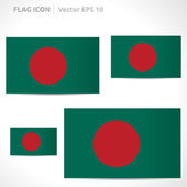 Bangladesh flag template — Stock Vector
