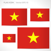 Vietnam flag template — Stock Vector