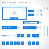 Web éléments du site modèle — Vecteur