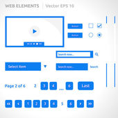 Web site elements template — Vetor de Stock