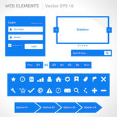 Web site elements template — Stock vektor