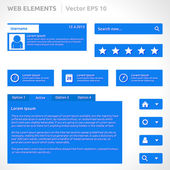 Web site elements template — Stockvector