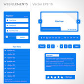 Web site elements template — Vetorial Stock
