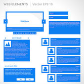 Web site elements template — Vector de stock
