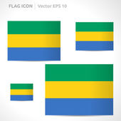 Gabon flag template — Stock Vector