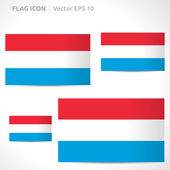 Luxembourg flag template — Stock Vector