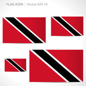 Trinidad and Tobago flag template — Stock Vector