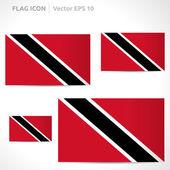 Trinidad and Tobago flag template — Stock Vector