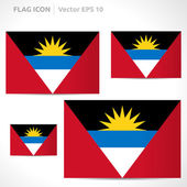 Antigua and Barbuda flag template — Stock Vector