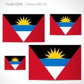 Antigua and Barbuda flag template — Stock Vector