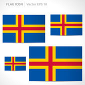Aland Islands flag template — Stock Vector