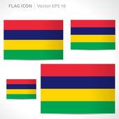 Mauritius flag template — Stock Vector