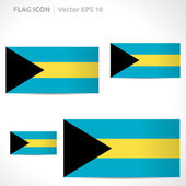 Bahamas flag template — Stock Vector