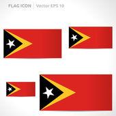 Timor-Leste flag template — Stock Vector