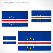 Cape Verde flag template — Stock Vector