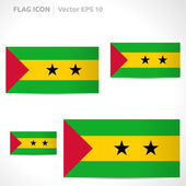 Sao Tome and Principe flag template — Stock Vector